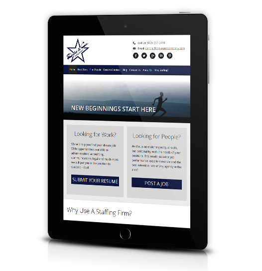 Tablet View of Drake & Company's Home Page