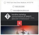 Mobile View of Barodine Marketing Communications & Research's Home Page in thumbnail