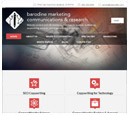 Tablet View of Barodine Marketing Communications & Research's Home Page in thumbnail