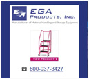 Desktop View of EGA Products's Home Page in thumbnail