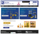 Mobile View of EGA Products's Home Page in thumbnail