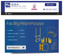 Tablet View of EGA Products's Home Page in thumbnail