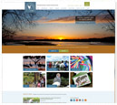 Desktop View of International Crane Foundation's Home Page in thumbnail