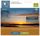 Tablet View of International Crane Foundation's Home Page in thumbnail