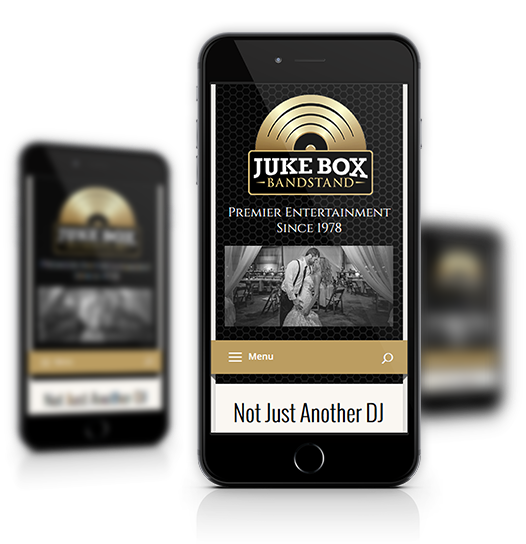 Juke Box Bandstand mobile view