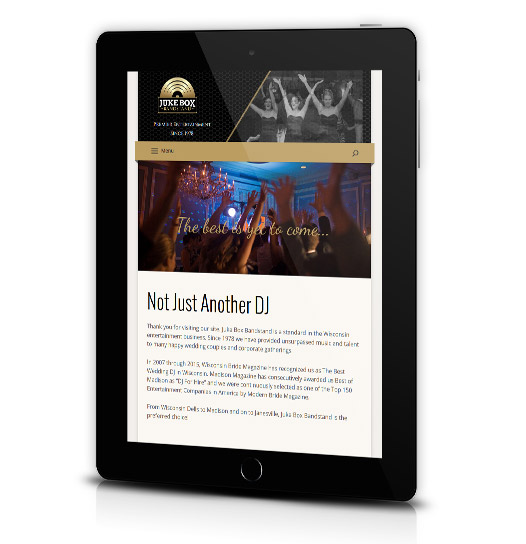 Juke Box Bandstand tablet view