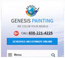 Mobile View of Genesis Painting's Home Page in thumbnail