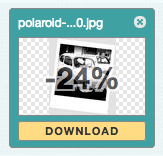 An example of image optimization where 24% of the file size was reduced