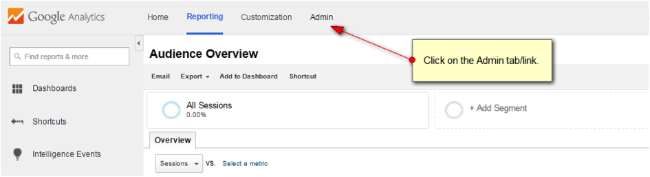 Google Analytics instructions