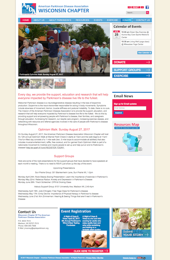 Contact Us  Wisconsin Chapter Of The American Parkinson Disease Association website