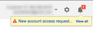AdWords New Account Access Request