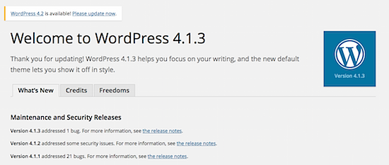 WordPress 4.1.3 is Out