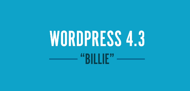 WordPress 4.3 is Out