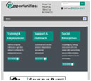Tablet View of Opportunities, Inc.'s Home Page in thumbnail