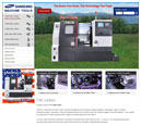 Desktop View of Samsung Machine Tools's Home Page in thumbnail