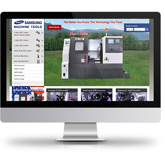 Desktop View of Samsung Machine Tools's Home Page