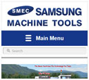 Mobile View of Samsung Machine Tools's Home Page in thumbnail