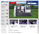 Tablet View of Samsung Machine Tools's Home Page in thumbnail