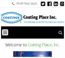 Mobile View of Coating Place's Home Page in thumbnail