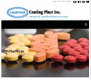 Tablet View of Coating Place's Home Page in thumbnail