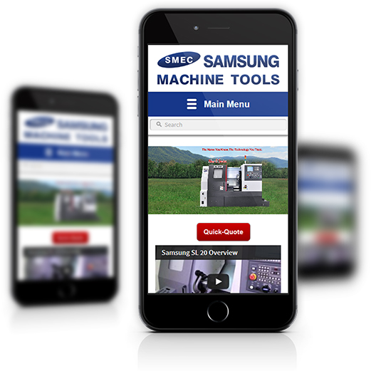 Mobile View of Samsung Machine Tools's Home Page