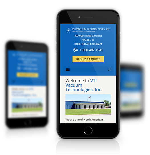 Mobile View of VTI Vacuum Technologies, Inc.'s Home Page