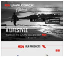 Tablet View of Whaleback Paddleboard's Home Page in thumbnail