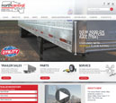 Desktop View of North Central Utility's Home Page in thumbnail