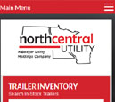 Mobile View of North Central Utility's Home Page in thumbnail