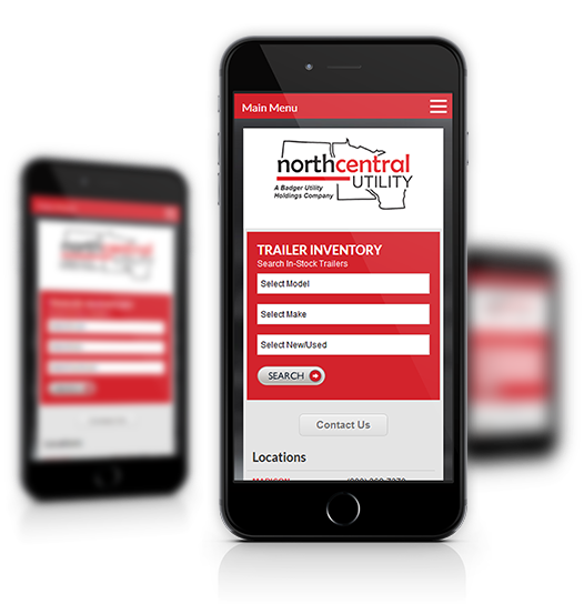Mobile View of North Central Utility's Home Page