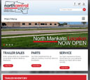 Tablet View of North Central Utility's Home Page in thumbnail