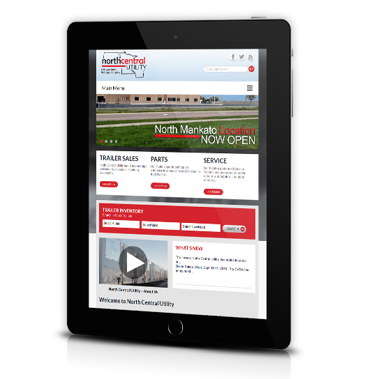 Tablet View of North Central Utility's Home Page