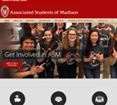 Desktop View of Associated Students of Madison's Home Page in thumbnail