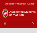 Mobile View of Associated Students of Madison's Home Page in thumbnail