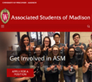 Tablet View of Associated Students of Madison's Home Page in thumbnail