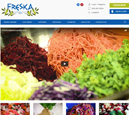 Desktop View of Freska Mediterranean Grill's Home Page in thumbnail