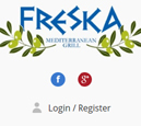 Mobile View of Freska Mediterranean Grill's Home Page in thumbnail