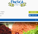 Tablet View of Freska Mediterranean Grill's Home Page in thumbnail