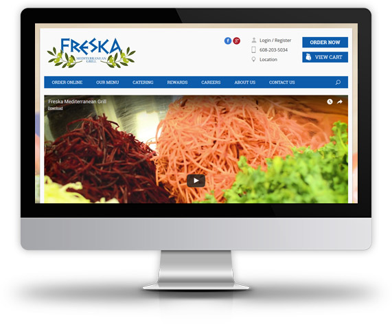 Desktop View of Freska Mediterranean Grill's Home Page