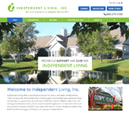 Desktop View of Independent Living's Home Page in thumbnail