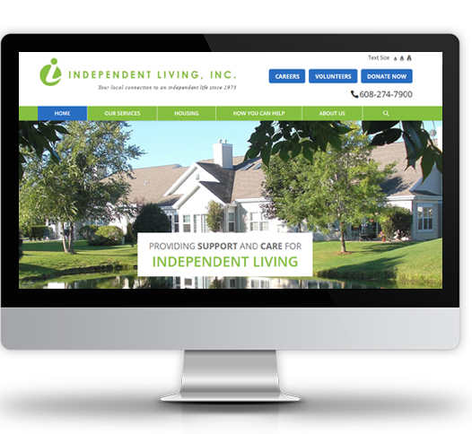 Desktop View of Independent Living's Home Page