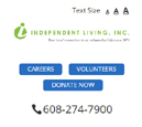 Mobile View of Independent Living's Home Page