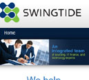Mobile View of Swingtide's Home Page in thumbnail