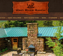 Desktop View of Wind River Ranch's Home Page in thumbnail