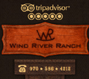 Mobile View of Wind River Ranch's Home Page in thumbnail