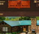 Tablet View of Wind River Ranch's Home Page in thumbnail