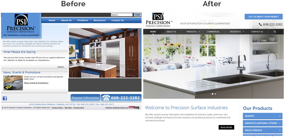 Precision Surface Industries-homepage-before-after