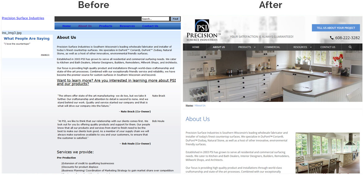 Precision Surface Industries-insidepage-before-after