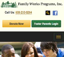 Mobile View of Family Works, Inc.'s Home Page in thumbnail