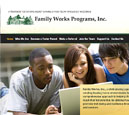 Tablet View of Family Works, Inc.'s Home Page in thumbnail